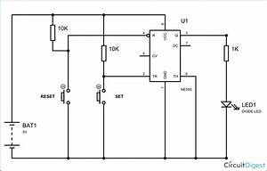 1 Bit Memory Cell In 555 Timer Ic