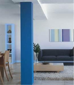Gris Et Bleu : couleur salon le bleu pour le salon on dit oui d co ~ Dode.kayakingforconservation.com Idées de Décoration