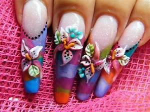 Nail art: 3d nail art design