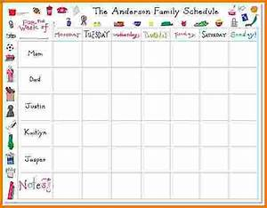 8 family weekly schedule template financial statement form With kids weekly schedule template