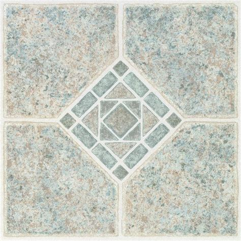 peel and stick tile ceramic tile shop style selections 1 12 in x 12 in basil peel and