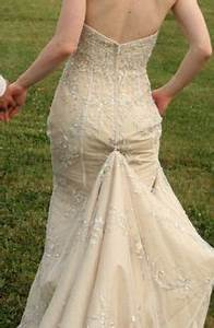 1000 images about lace dress bustles on pinterest With how to bustle a lace wedding dress