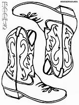 Cowboy Boots Coloring Pages Stuff sketch template