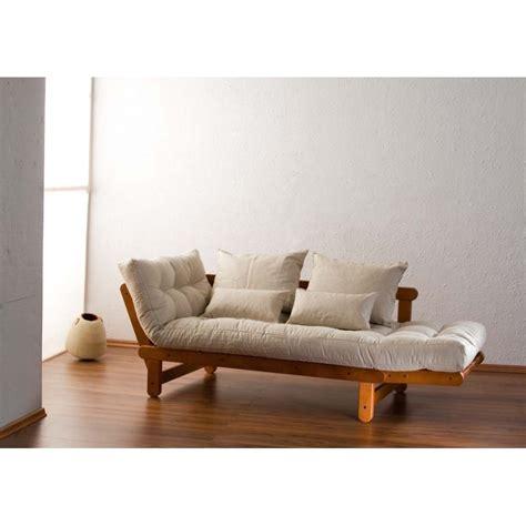 canap lit bois futon canapé lit