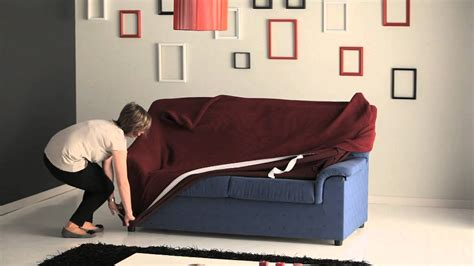 How To Cover Sofa by How To Put A Stretch Sofa Cover Easily