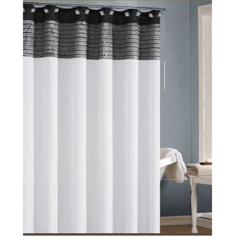 white black  silvergray shower curtain  sequins