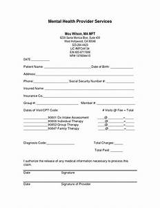 Billing encounter form template bing images for Mental health invoice template