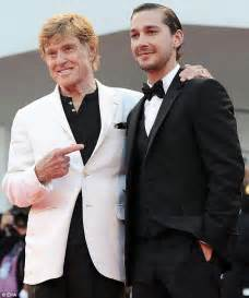 robert redford where does he live robert redford takes wife and shia labeouf to the company