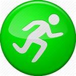 Icon Run Button Start Running Activity Training