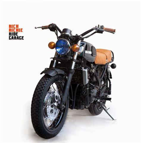 modifikasi motor kawasaki 250 cb classic style