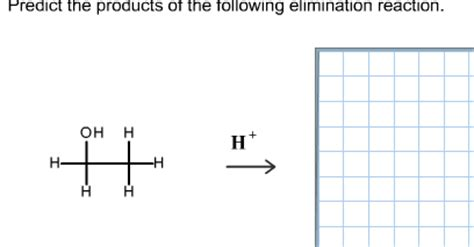 Solved Predict The Products Of The Following Elimination