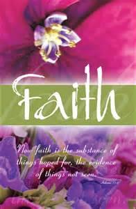 Church Bulletin Covers Faith
