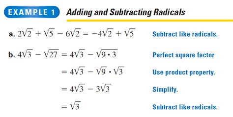 adding and subtracting radicals lessons tes teach