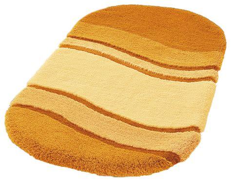 unique oval non slip washable bathroom rug saffron