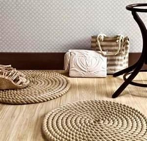 Tapis En Corde : le petit tapis rond belle solution pour les petits espaces ~ Teatrodelosmanantiales.com Idées de Décoration