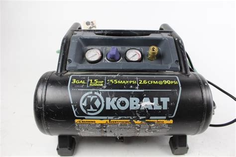 kobalt 3 gallon electric air compressor property room