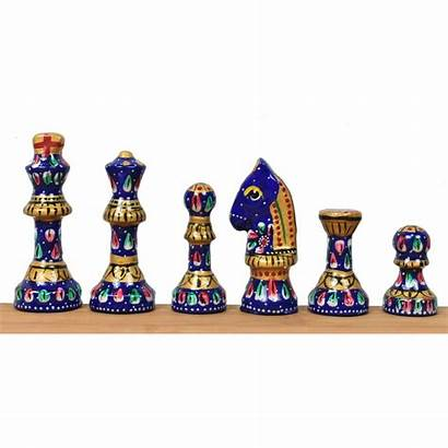 Chess Staunton Metal Board Luxury Pieces Inspired