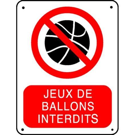 acheter bureau panneau jeux de ballons interdit stocksignes