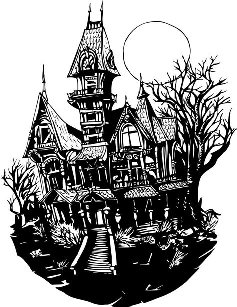 haunted house drawing clipart  arte galerias