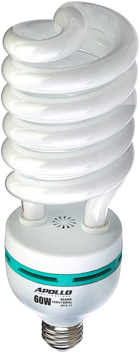 fluorescent grow light bulbs apollo horticulture 60 watt cfl compact fluorescent grow