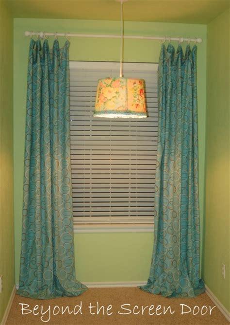 floor length curtains beyond the screen door