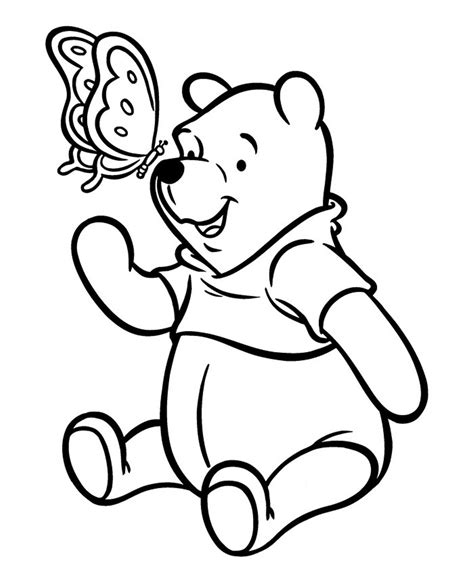 lovely classic pooh bear coloring pages  amazing