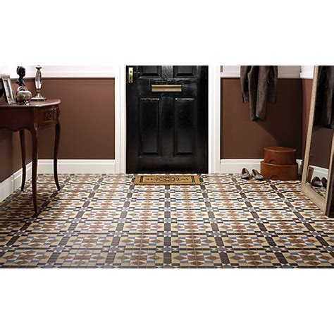 wicks kitchen tiles wickes dorset marron patterned ceramic tile 316 x 316mm 1098