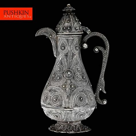 New york's premier coffee roaster. ANTIQUE 20thC OTTOMAN EMPIRE SOLID SILVER FILIGREE COFFEE POT c.1900 | Coffee pot, Ottoman, Antiques