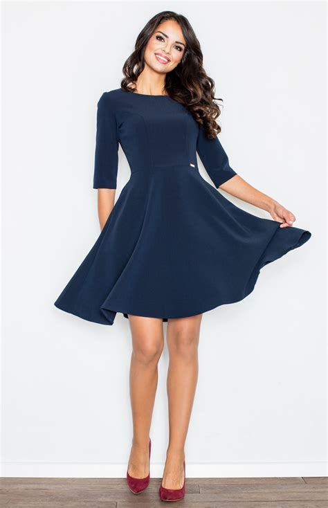 robe de mariée patineuse robe patineuse bleu marine flm327bl idresstocode