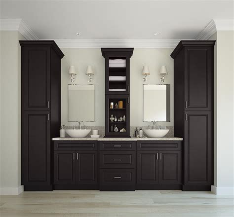 dakota espresso pre assembled bathroom vanities  rta