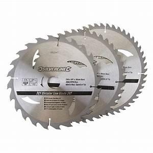 Lames Scie Circulaire : 3 lames scie circulaire carbure de tungst ne 24 40 48 dents ~ Edinachiropracticcenter.com Idées de Décoration