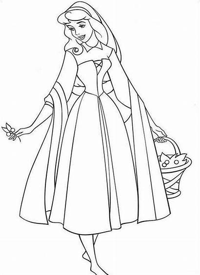 Coloring Sleeping Pages Beauty Printable