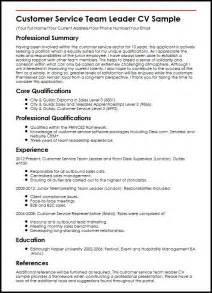 team leader resume sles sales team lead resume
