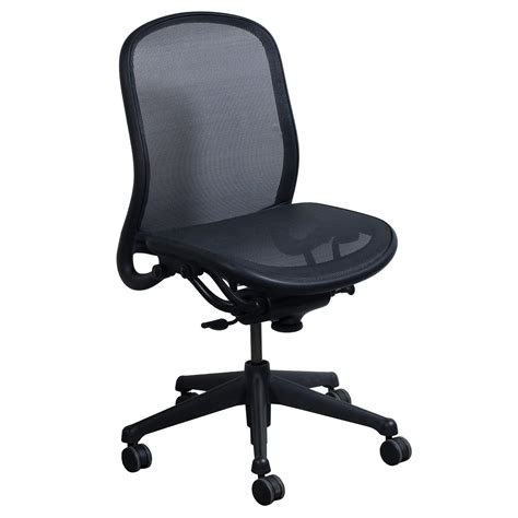 knoll chadwick mesh desk chair knoll chadwick armless used task chair black mesh