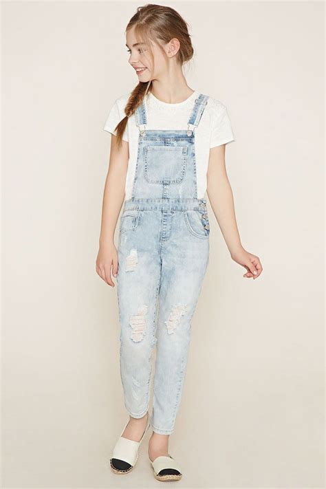 Girls Denim Overalls (Kids) | Forever 21 girls - 2000185794 | tween styles | Pinterest | Forever ...