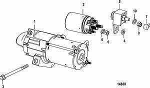 Starter Motor For Mercruiser 5 0l 350 Mag Mx 6 2l Mpi