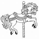 Horse Coloring Pages Paint Clydesdale Carousel Printable Getcolorings Animal sketch template