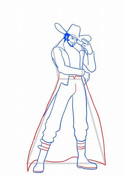 Piece Mihawk Dracule Draw Learn Step Easy