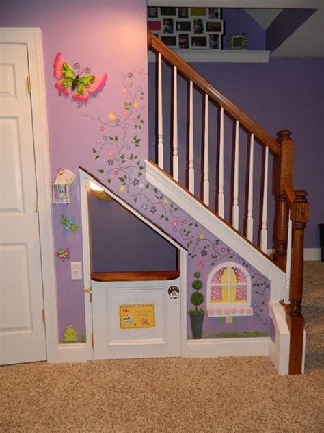 stairs kids playhouse murals