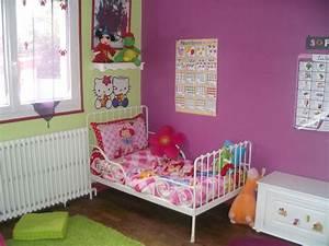 awesome chambre verte et rose gallery lalawgroupus With chambre bébé design avec poster fleurs exotiques