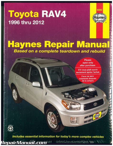 auto repair manual free download 1996 toyota rav4 navigation system haynes toyota rav4 1996 2012 auto repair manual