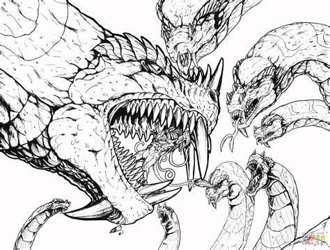 kaiju worlds collide   coloring page