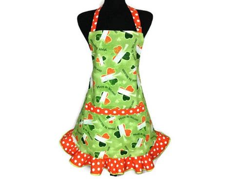 Kitchen Aprons Ireland by Flag Shamrock Apron For Green With By
