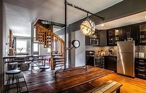 Sejour Style Industriel : un int rieur de maison la tendance r tro dans l esprit d co steampunk design feria ~ Teatrodelosmanantiales.com Idées de Décoration