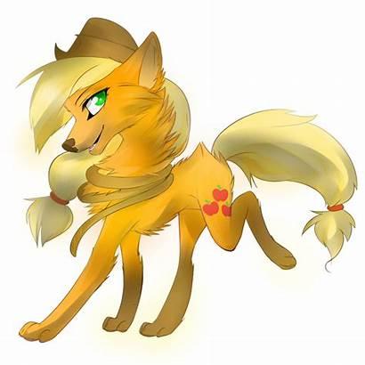 Wolf Applejack Mlp Wolves Pony Magic Drawings