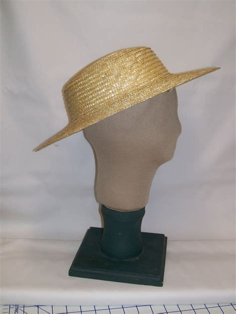 young womans straw hat