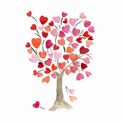 Valentine True Heart Tree Valentines Painted Want
