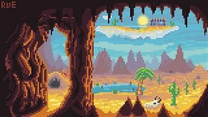 Terraria Desert Pixel Biome Forums Landscapes Community