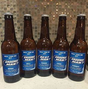 grooms beer labels personalized bridesmaid and groomsman With buy beer bottle labels