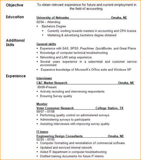 6 how to fill out a resume bibliography format